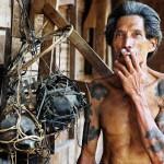 hoofdman longhouse op Sarawak