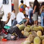 verkoper van durian