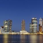 Kop van Zuid schemering Rotterdam